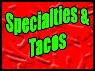 Specialties Menu